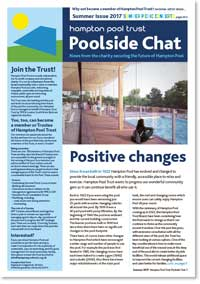 Hampton Pool Newsletter Summer 2017 front cover