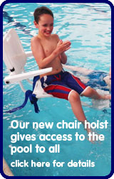 Chair hoist gives access to the pool for all
