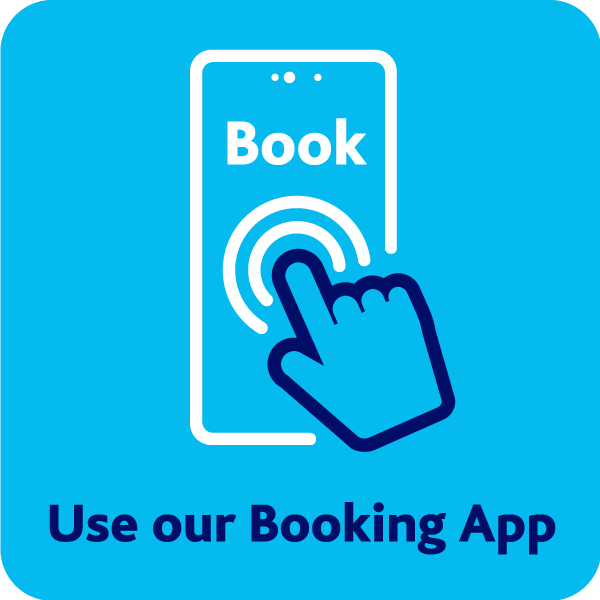 Use the booking app button