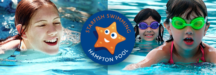 Starfish swimmimg lessons - outdoors in heated water